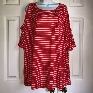 Umgee Plus Striped Long Tunic Top